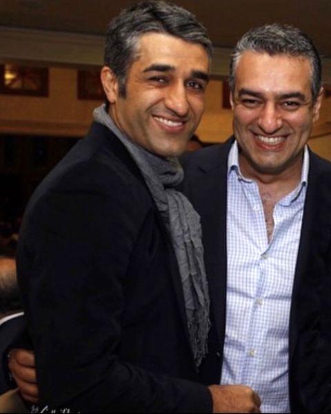 پژمان جمشیدی در آغوش بازیگر مشهور + عکس