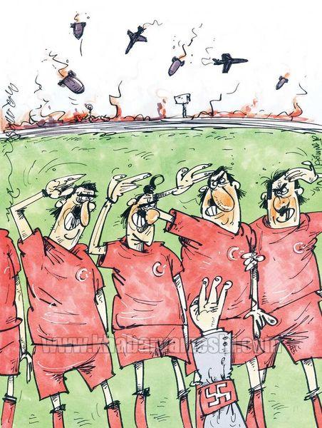 کاریکاتور / ترکشهای جنگ ترکیه به فوتبال هم رسید!
