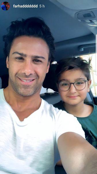 فرهاد مجیدی و پسرش + عکس
