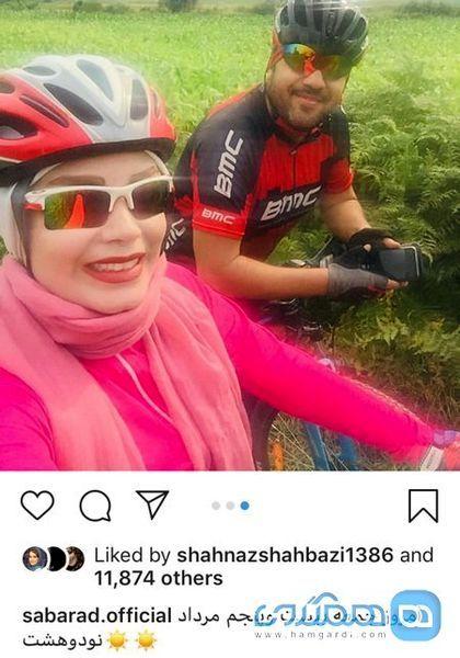 ورزش حرفه ای خانم مجری و همسر خواننده اش+عکس