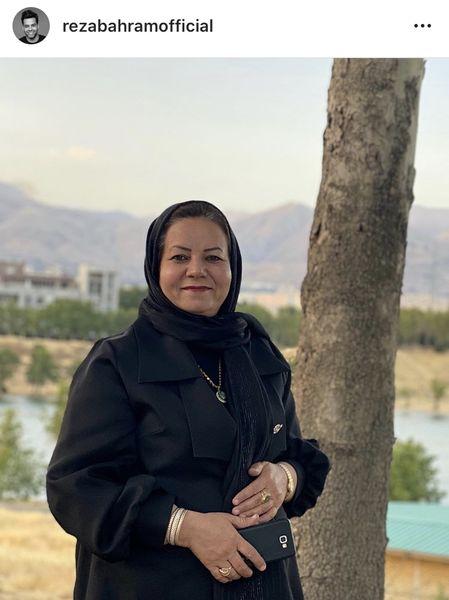 عکس تکی از مادر رضا بهرام