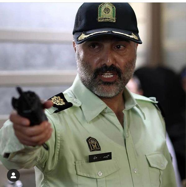 سعید داخ در لباس نیروی انتظامی + عکس