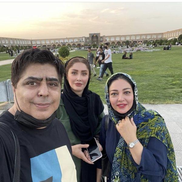 رضا شفیعی جم و خانوم بازیگر در میدان نقش جهان اصفهان + عکس