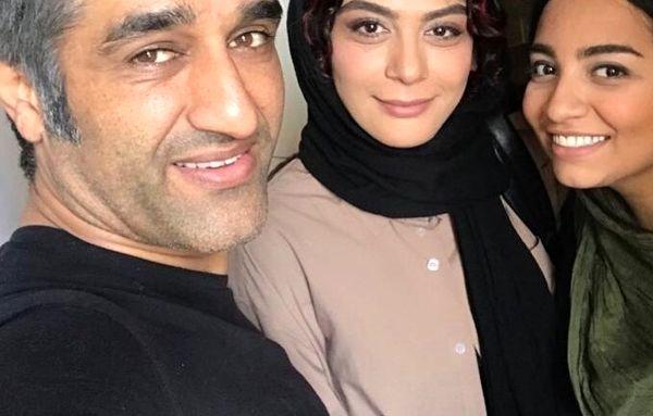 مارال فرجاد در کنار بازیگر نمکی موفق سینما+عکس
