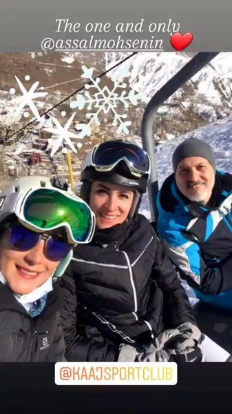ویشکا آرایش و دوستانش با لباس اسکی + عکس