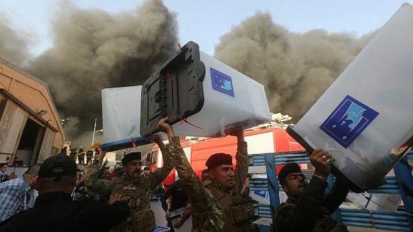 آتشسوزی مخازن آرا در بغداد عمدی بوده