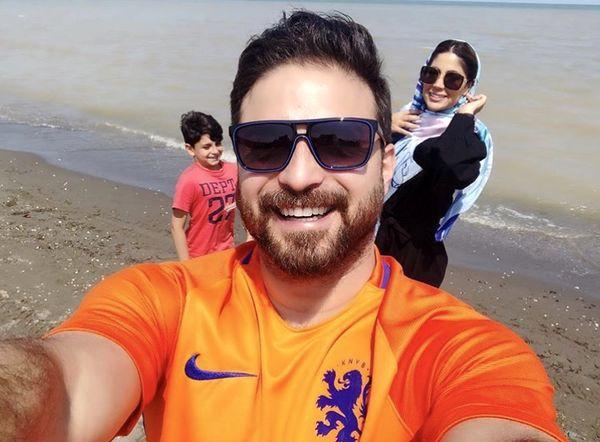 شمال گردی های آقای خواننده با خاتواده اش + عکس
