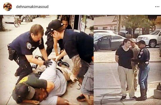 پلیس آمریکا اعتراض ده نمکی را درآورد!+عکس