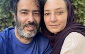 جدیدترین عکس سحر ولدبیگی و نیما فلاح در حیاط خانه شان